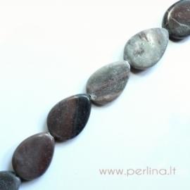 Natūralus akmuo, karoliukas, 18x24 mm