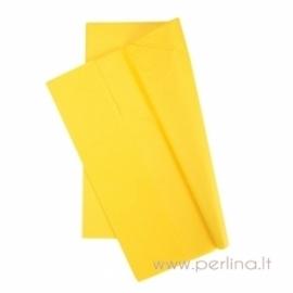 Tissue šilko popierius, geltonas, 10 vnt, 50,8x50,8 cm