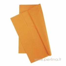 Tissue šilko popierius, oranžinis, 10 vnt, 50,8x50,8 cm