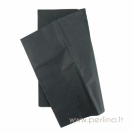 Tissue šilko popierius, juodas, 10 vnt, 50,8x50,8 cm