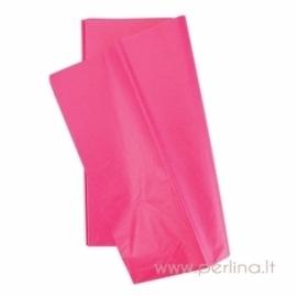Tissue šilko popierius, tamsiai rožinis, 10 vnt, 50,8x50,8 cm
