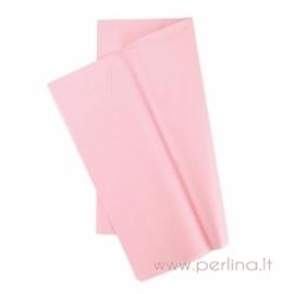 Tissue šilko popierius, šviesiai rožinis, 10 vnt, 50,8x50,8 cm