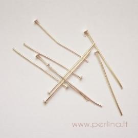 Sidabro sp. smeigtukas su plokščia galvute, 30x0,7 mm, 1 vnt