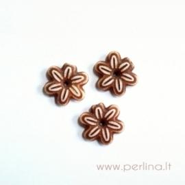 Akriliniai karoliukai-gėlytės, 14x3,5 mm, 1 vnt