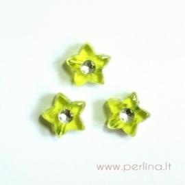 Akrilinis karoliukas-žvaigždutė, geltonos sp., 9x9 mm, 1 vnt
