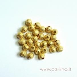 """Aukso sp. karoliukas """"Žvaigždžių dulkės"""", 4 mm"""