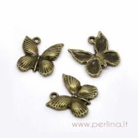 "Bronzos sp. pakabukas ""Butterfly"", 18x17 mm"