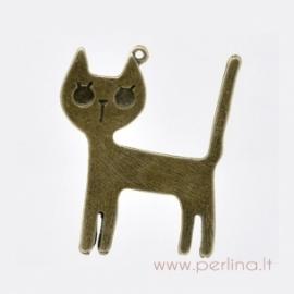 """Bronzos sp. pakabukas """"Cat"""", 45x37 mm"""
