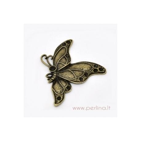 "Bronzos sp. pakabukas ""Butterfly"", 54x46 mm"