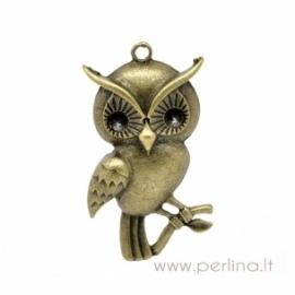 """Bronzos sp. pakabukas """"Owl"""", 6,2x3,5 cm"""