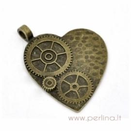 """Bronzos sp. pakabukas """"Wheel Heart"""", 5x3,8 cm"""