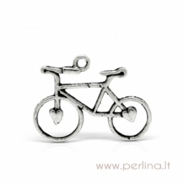 "Sidabro sp. pakabukas ""Bike Bicycle"", 31x23 mm"