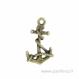 "Bronzos sp. pakabukas ""Anchor"", 19x11 mm"