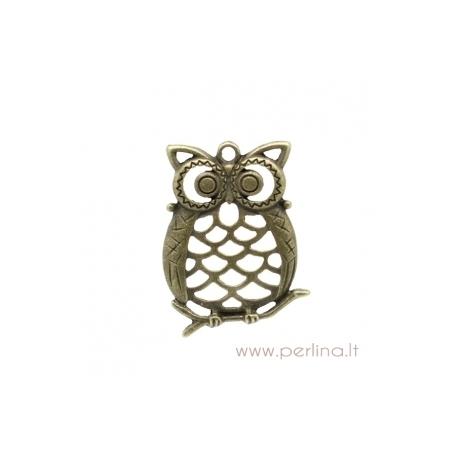 """Bronzos sp. pakabukas """"Owl"""", 3,9x3 cm"""