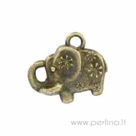 "Bronzos sp. pakabukas ""Elephant"", 16x13 mm"