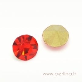 Stiklo akutė, raudona, SS16, 1 vnt