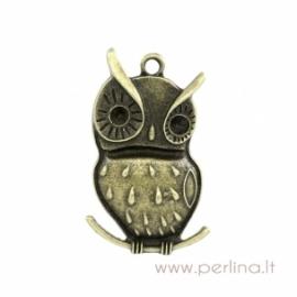 """Bronzos sp. pakabukas """"Owl"""", 4,8x2,9 cm"""