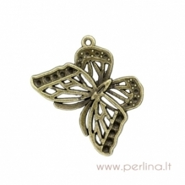 "Bronzos sp. pakabukas ""Butterfly"", 27x21 mm"