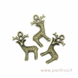 "Bronzos sp. pakabukas ""Deer"", 23x19 mm"