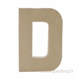 Kartoninė raidė D, 20x14,5x2,5 cm