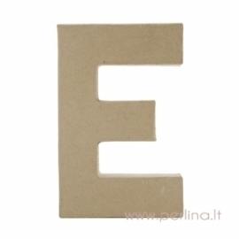 Kartoninė raidė E, 20x14,5x2,5 cm