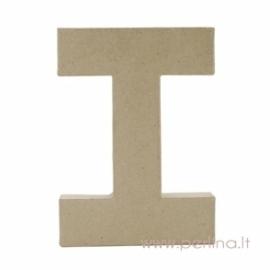 Kartoninė raidė I, 20x14,5x2,5 cm