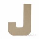 Kartoninė raidė J, 20x14,5x2,5 cm