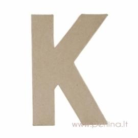 Kartoninė raidė K, 20x14,5x2,5 cm