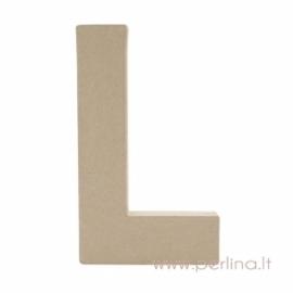 Kartoninė raidė L, 20x14,5x2,5 cm