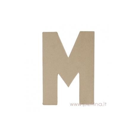 Kartoninė raidė M, 20x14,5x2,5 cm