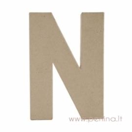 "Paper Mache Letter ""N"", 20x14,5x2,5 cm"