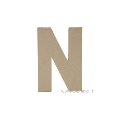 Kartoninė raidė N, 20x14,5x2,5 cm