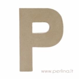 Kartoninė raidė P, 20x14,5x2,5 cm