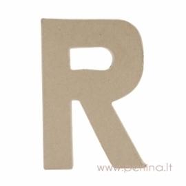 Kartoninė raidė R, 20x14,5x2,5 cm