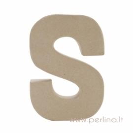 Kartoninė raidė S, 20x14,5x2,5 cm