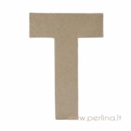 Kartoninė raidė T, 20x14,5x2,5 cm