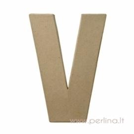 Kartoninė raidė V, 20x14,5x2,5 cm