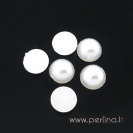 Akrilinis kabošonas, dramblio kaulo sp., 6 mm
