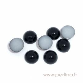 Akrilinis kabošonas, juodos sp., 6 mm, 10 vnt.