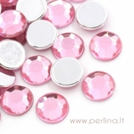Briaunuotas akrilinis kabošonas, rožinis, 8 mm