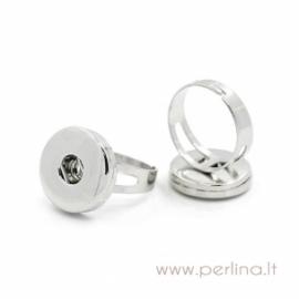 Reguliuojamo dydžio NOOSA stiliaus žiedas, 19,5 mm, 1 vnt