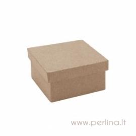 Kartoninė kvadratinė dėžutė, 6,5x6,5x3,5 cm