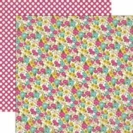 """Popierius """"Mini Flowers"""", 30,5x30,5 cm"""