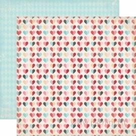 "Popierius ""Hearts"", 30,5x30,5 cm"