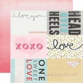 "Popierius ""Journaling Cards"", 30,5x30,5 cm"