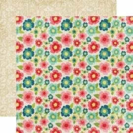 """Popierius """"Floral"""", 30,5x30,5 cm"""