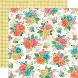 """Popierius """"Gardenia Row"""", 30,5x30,5 cm"""