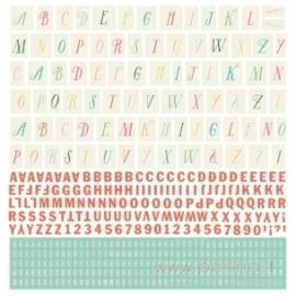"""Raidžių lipdukai """"Alphabet Stickers"""", 30,5x30,5 cm"""