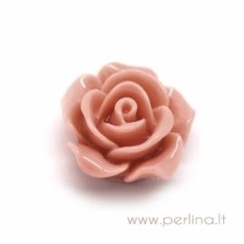 """Akrilinis kabošonas """"Creamy Pink Flower"""", 14x6 mm"""