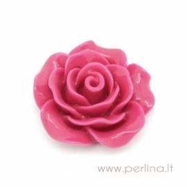 """Akrilinis kabošonas """"Fuchsia Flower"""", 18x19 mm"""